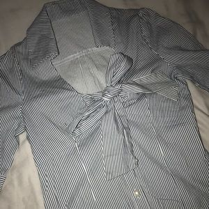 Tops - Pinstriped button up top!